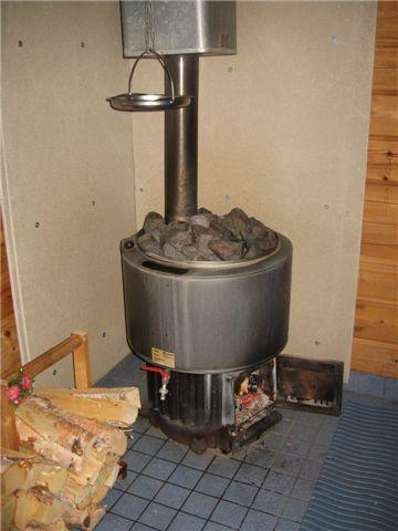 Печка из автомобильных дисков в баню